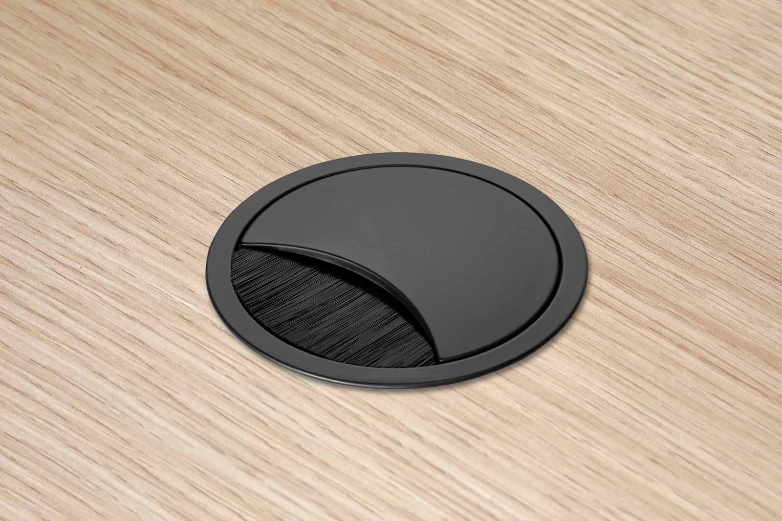 Eisnhauer Kabeldose schwarz Tischplatte