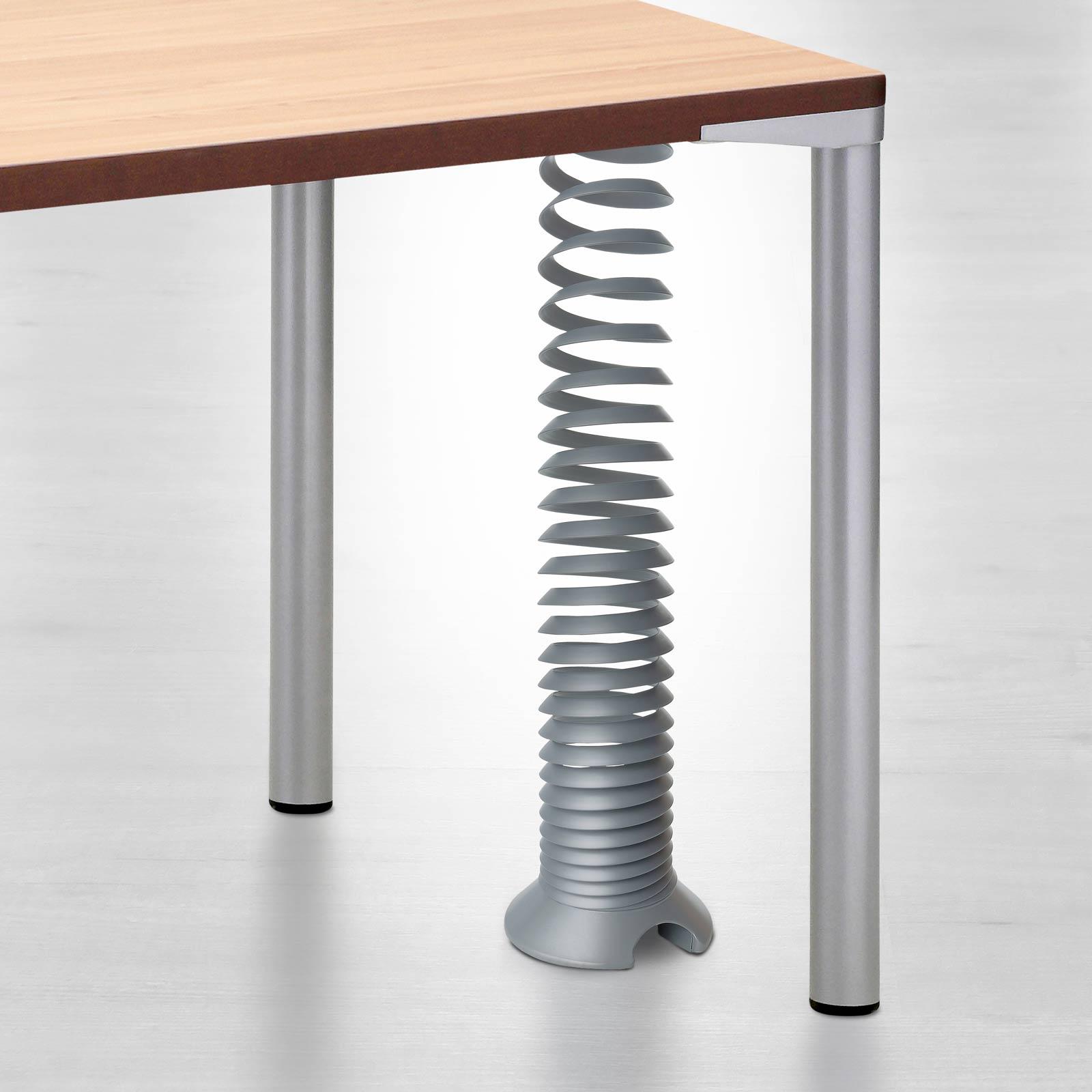 Eisnhauer Kabelspirale ausgefahren Schreibtisch