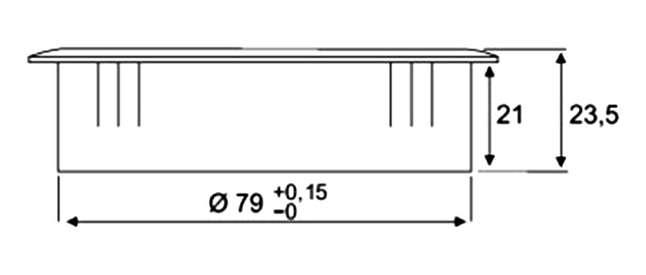 Eisnhauer Kabeldosen Eckig 80 mm
