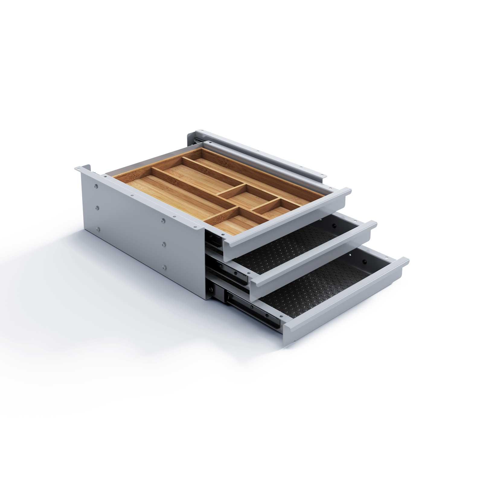 Eisnhauer Schubladenbox Tri Grip Silber
