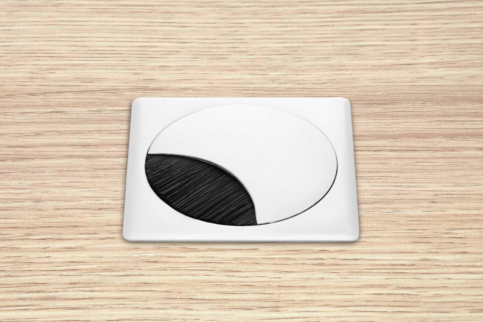 Eisnhauer Kabeldose Eckig Weiß Tischplatte